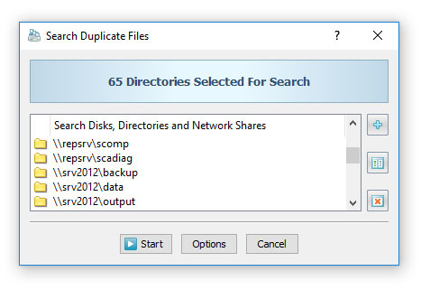Search Duplicate Files in Network Shares