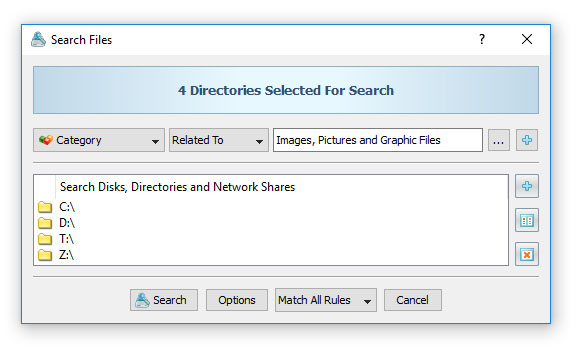 Search Files By File Category