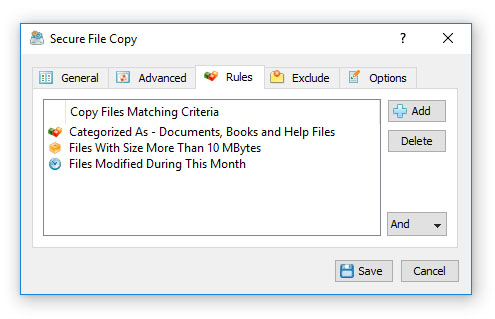 Secure File Copy Rules