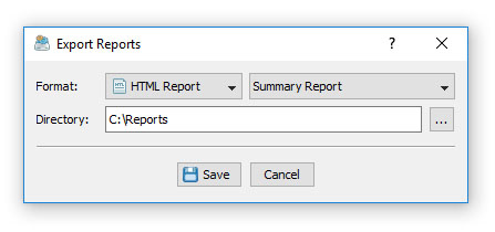DiskBoss Batch Reports Dialog
