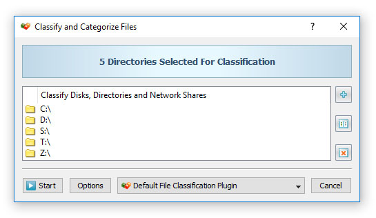 DiskBoss File Classification Command