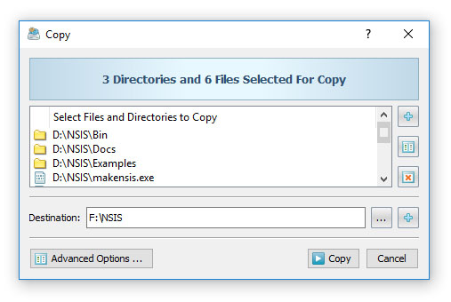 DiskBoss File Copy Dialog