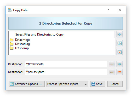 DiskBoss File Copy Two Destinations
