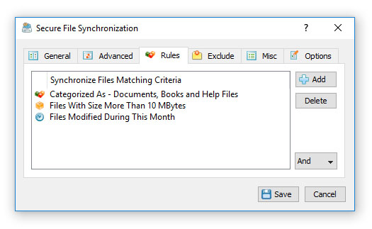 Secure File Synchronization Rules